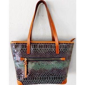 Dooney & Bourke Bags - DOONEY & BOURKE SNAKE CHARLESTON SHOPPER PURSE BAG